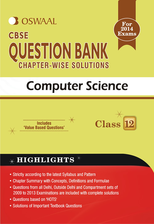 Oswaal CBSE Question Bank chapter-wise solutions For Class 12