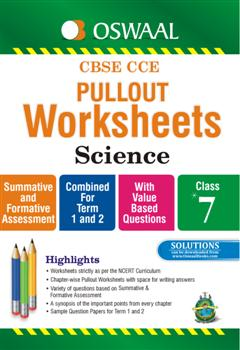 oswaal cbse cce pullout worksheets science for class 7. Black Bedroom Furniture Sets. Home Design Ideas