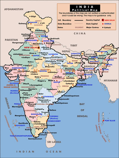 Indian Education  India facts  Map of India